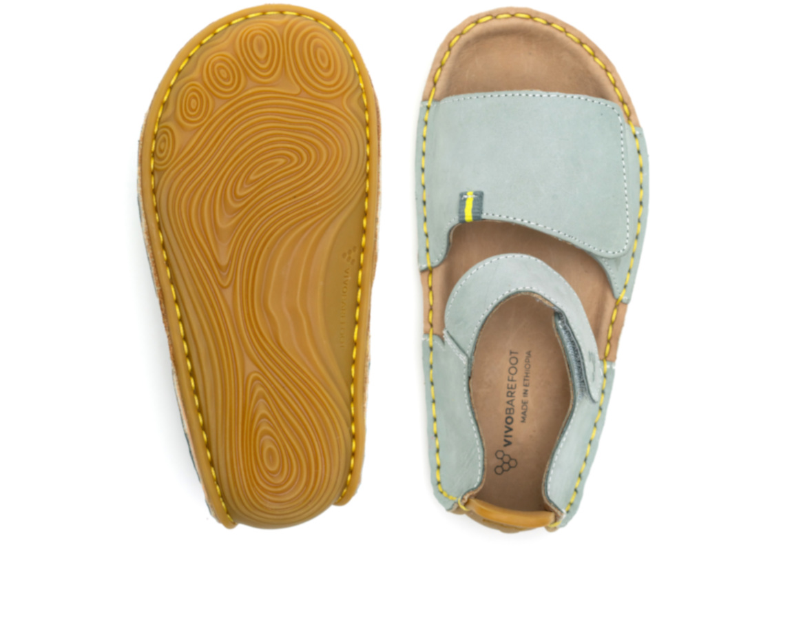 Vivobarefoot ABABA SANDAL KIDS SLATE ()