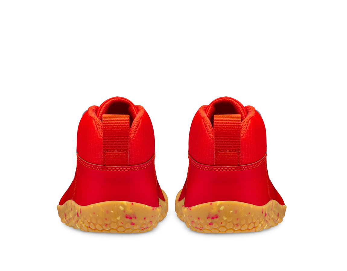 Vivobarefoot PRIMUS BOOTIE II ALL WEATHER JUNIORS FIERY CORAL ()