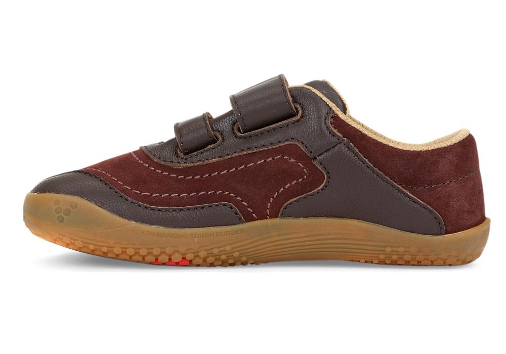 Dětské boty pro zdravé nohy - Vivobarefoot RENO K Leather Brown 18828ba8364