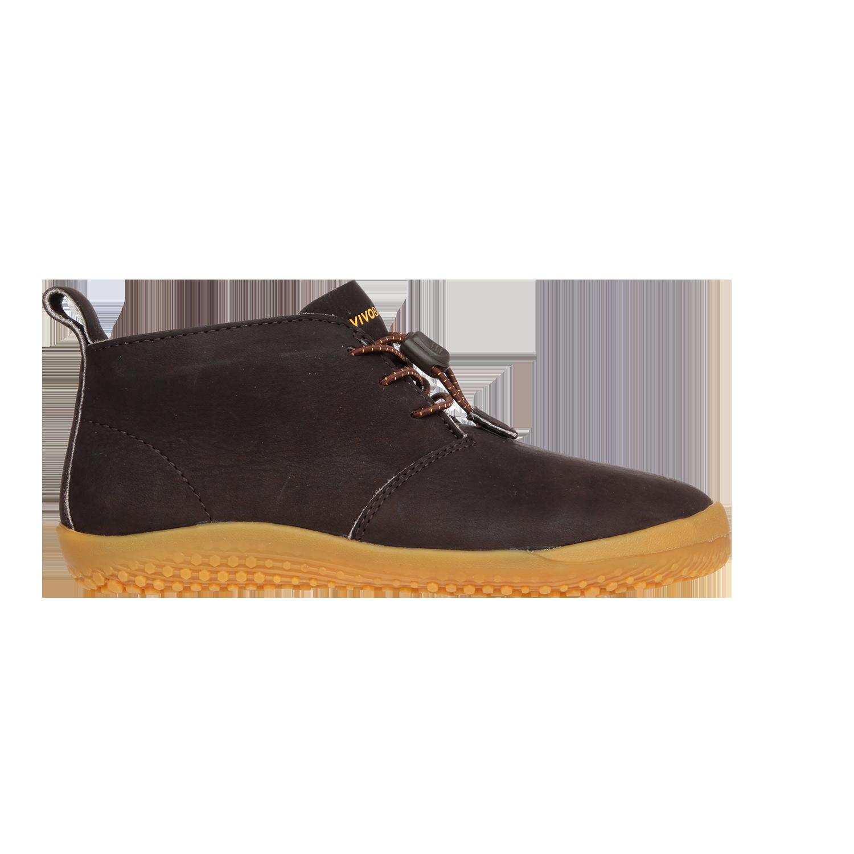 4339fe38b5 Podzimní barefoot boty pro děti - Vivobarefoot GOBI K Leather Dk Brown