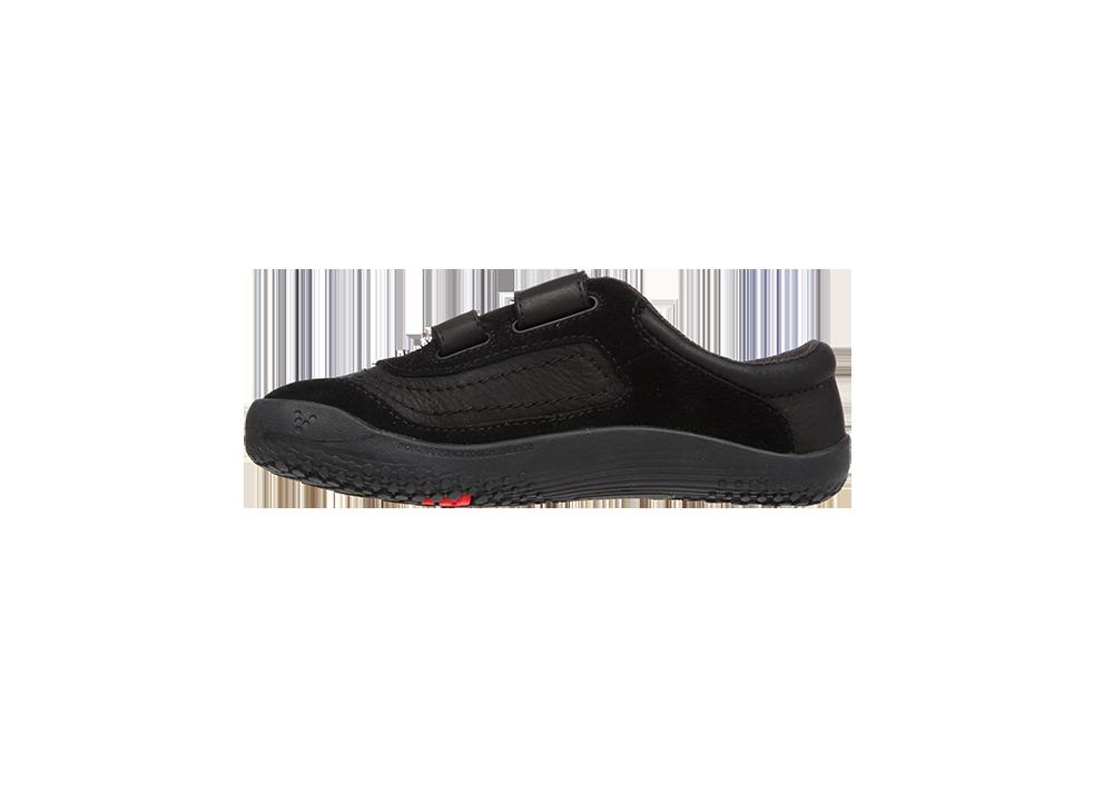 Dětské kožené boty - černé - Vivobarefoot RENO K Leather Black Hide 8904ff8bbb