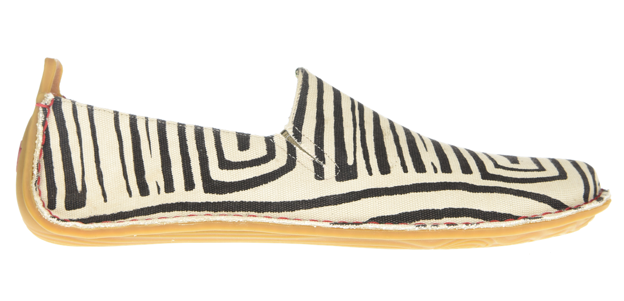 Vivobarefoot ABABA M Canvas Zebra