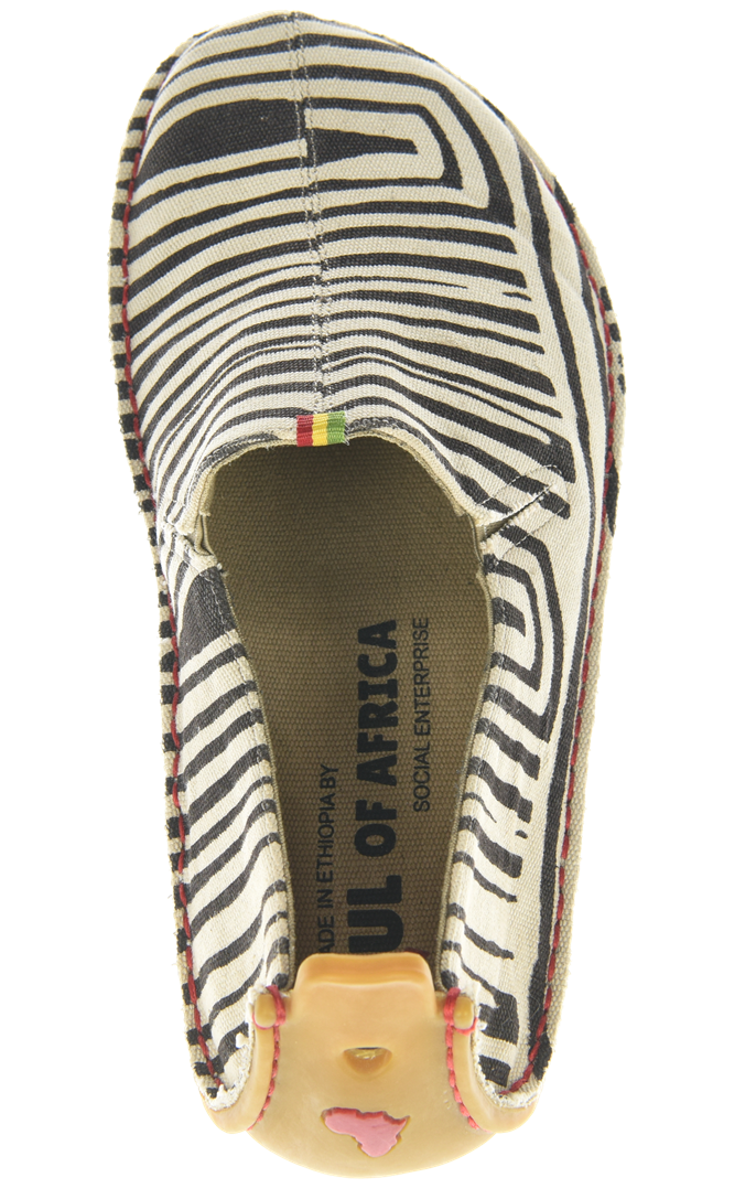 Vivobarefoot ABABA M Canvas Zebra ()