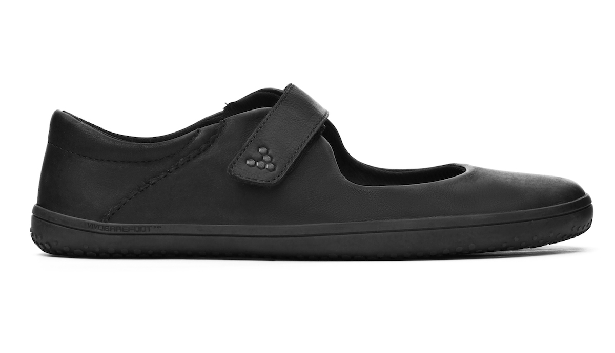 Vivobarefoot WYN J Leather Black/Hide ()