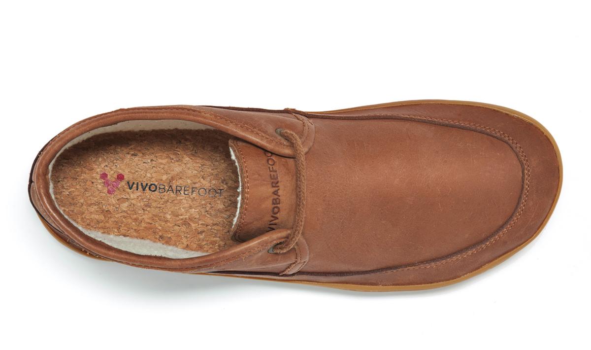 769434ccde95 Kotníkové zimní boty dámské - Vivobarefoot GIA L Leather Chestnut