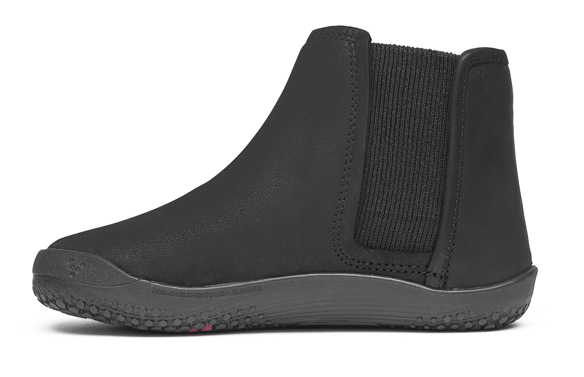 Vivobarefoot NEPAL K Leather Black ()
