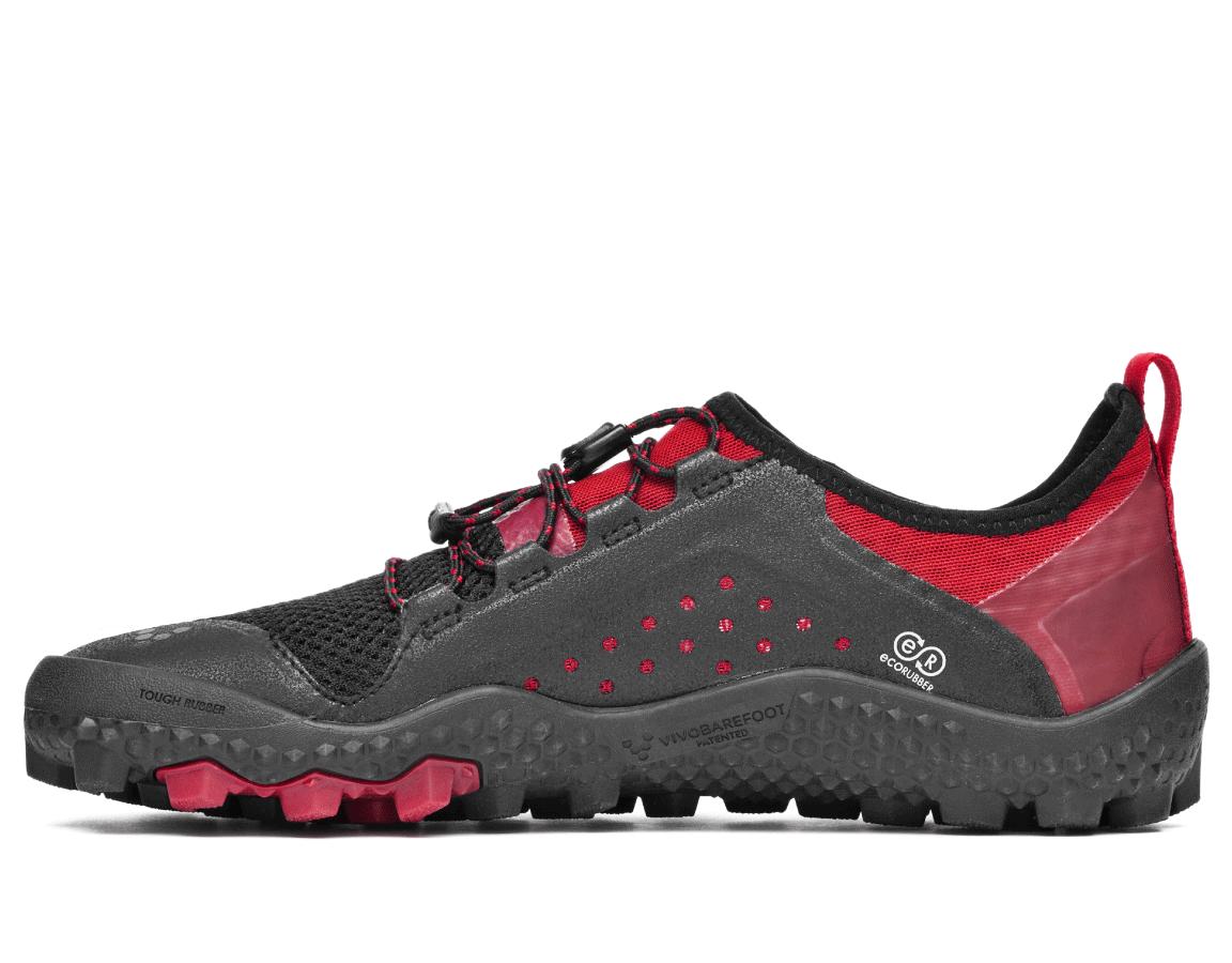Dámské lehké běžecké boty - Vivobarefoot PRIMUS TRAIL SG L Mesh Black Red cd3e271c97