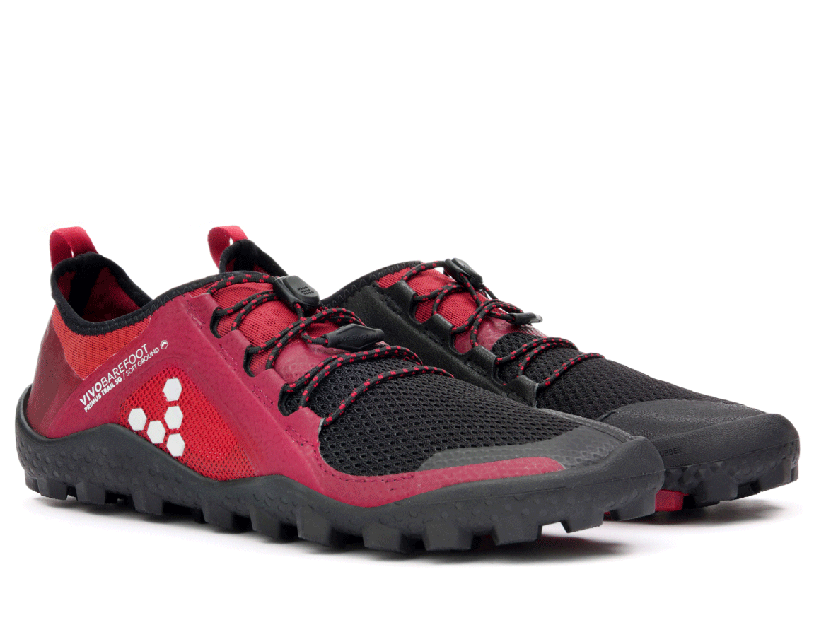 Vivobarefoot  PRIMUS TRAIL SG M Mesh Black/Red ()