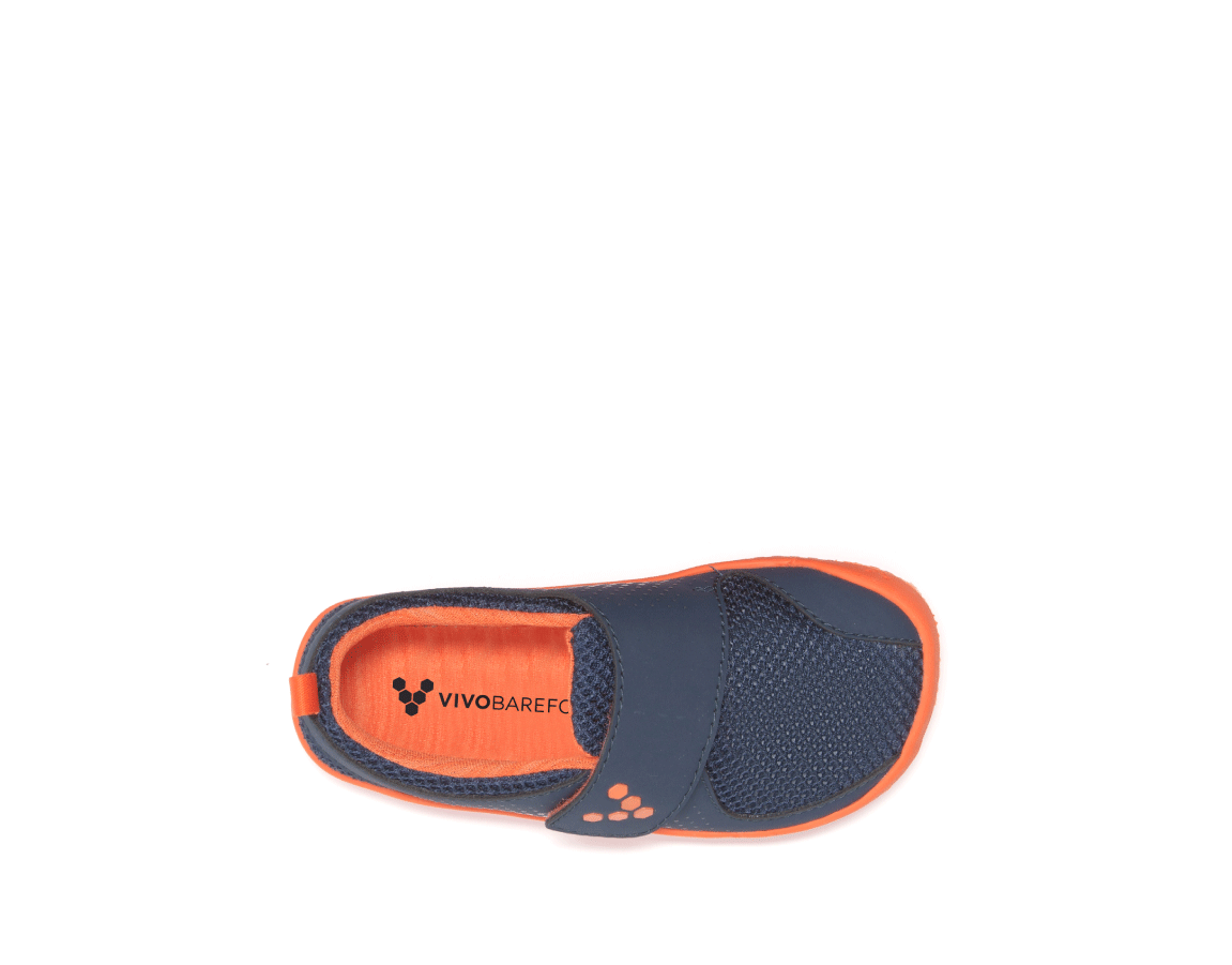 Vivobarefoot MINI PRIMUS K Navy/Orange ()