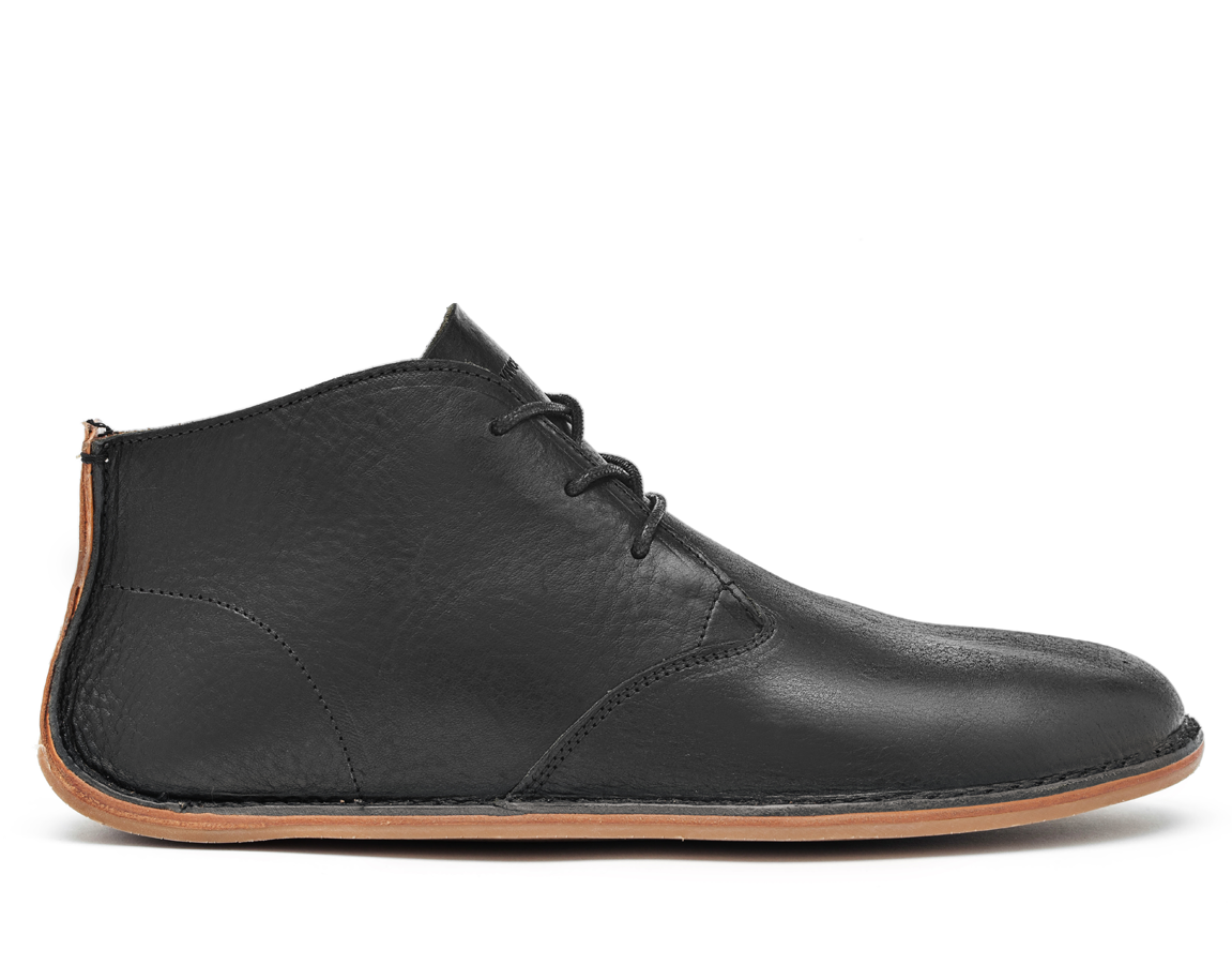 Vivobarefoot  PORTO ROCKER HIGH L Leather Black