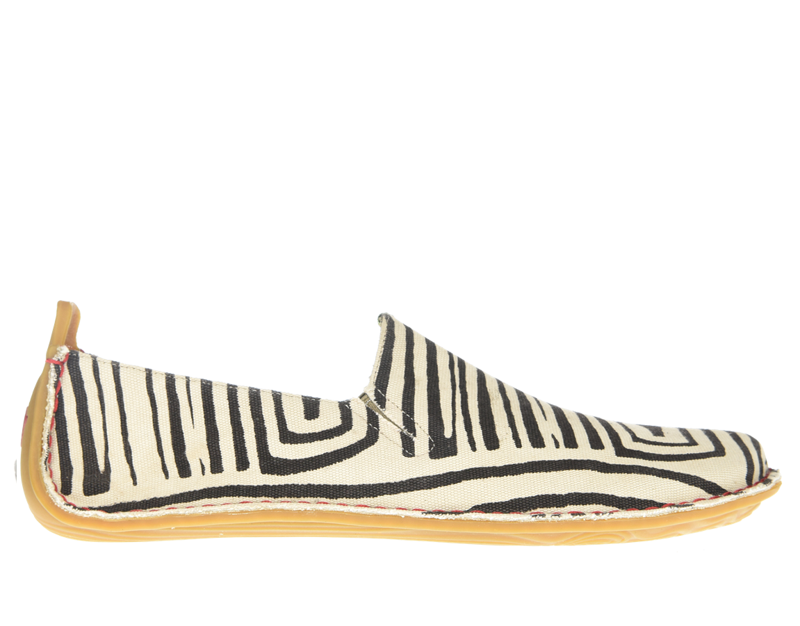 Vivobarefoot ABABA L Canvas Zebra