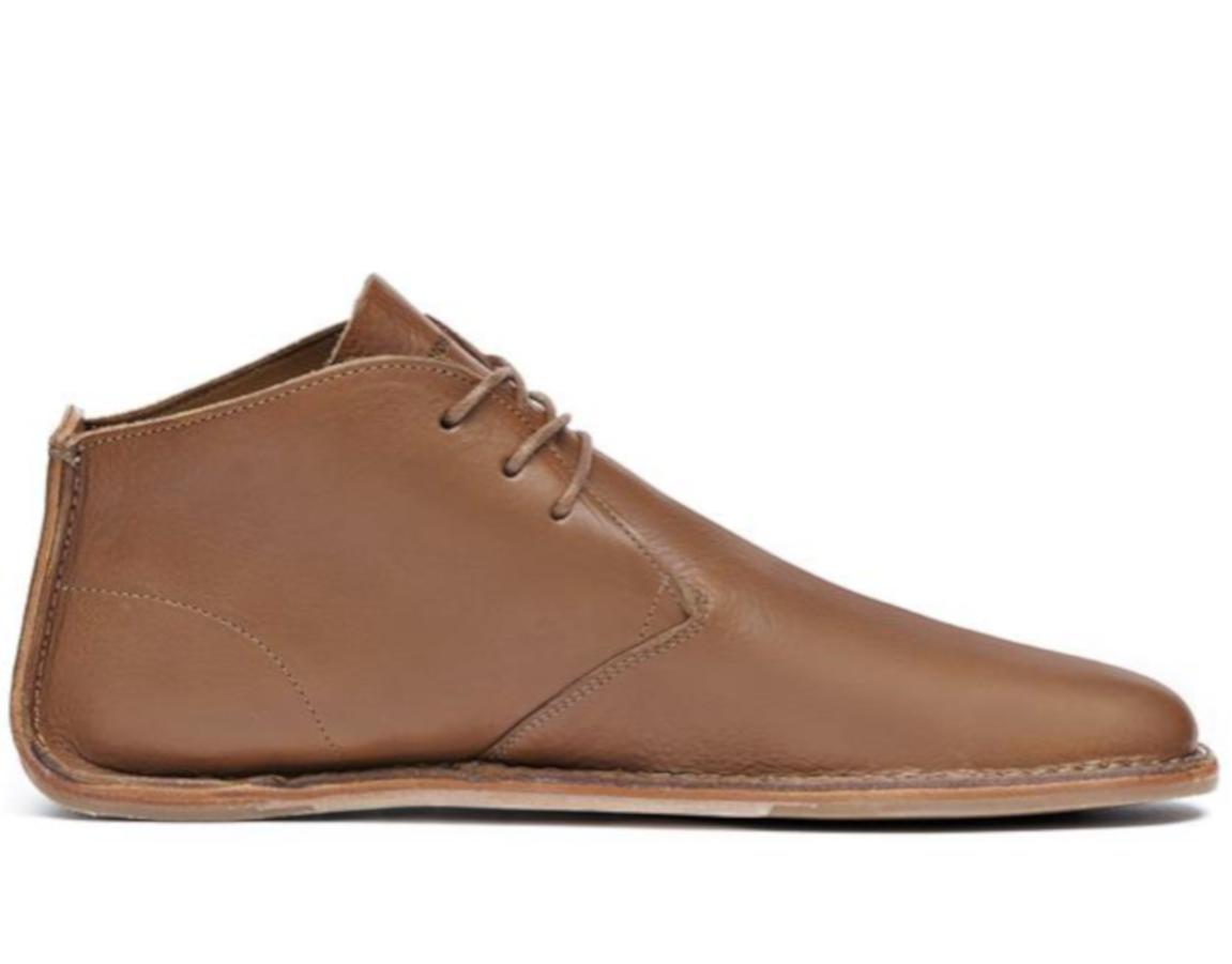 Luxusní kožené kotníčkové boty - pánské - Vivobarefoot PORTO ROCKER HIGH M  Leather Tan 3501616e24