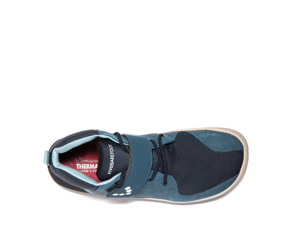 Vivobarefoot PRIMUS BOOTIE J Leather Indigo ()