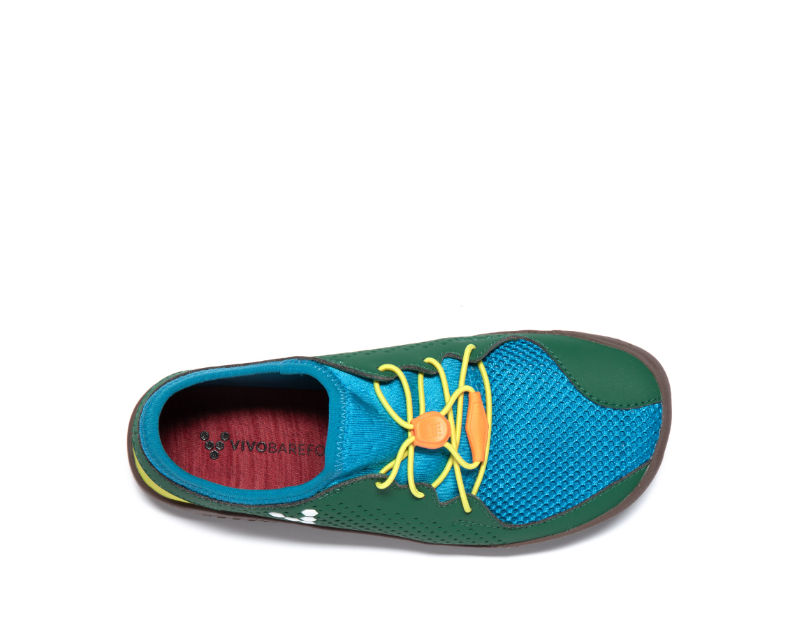 Vivobarefoot PRIMUS COLOUR KIDS K Blue/Green/Yellow ()