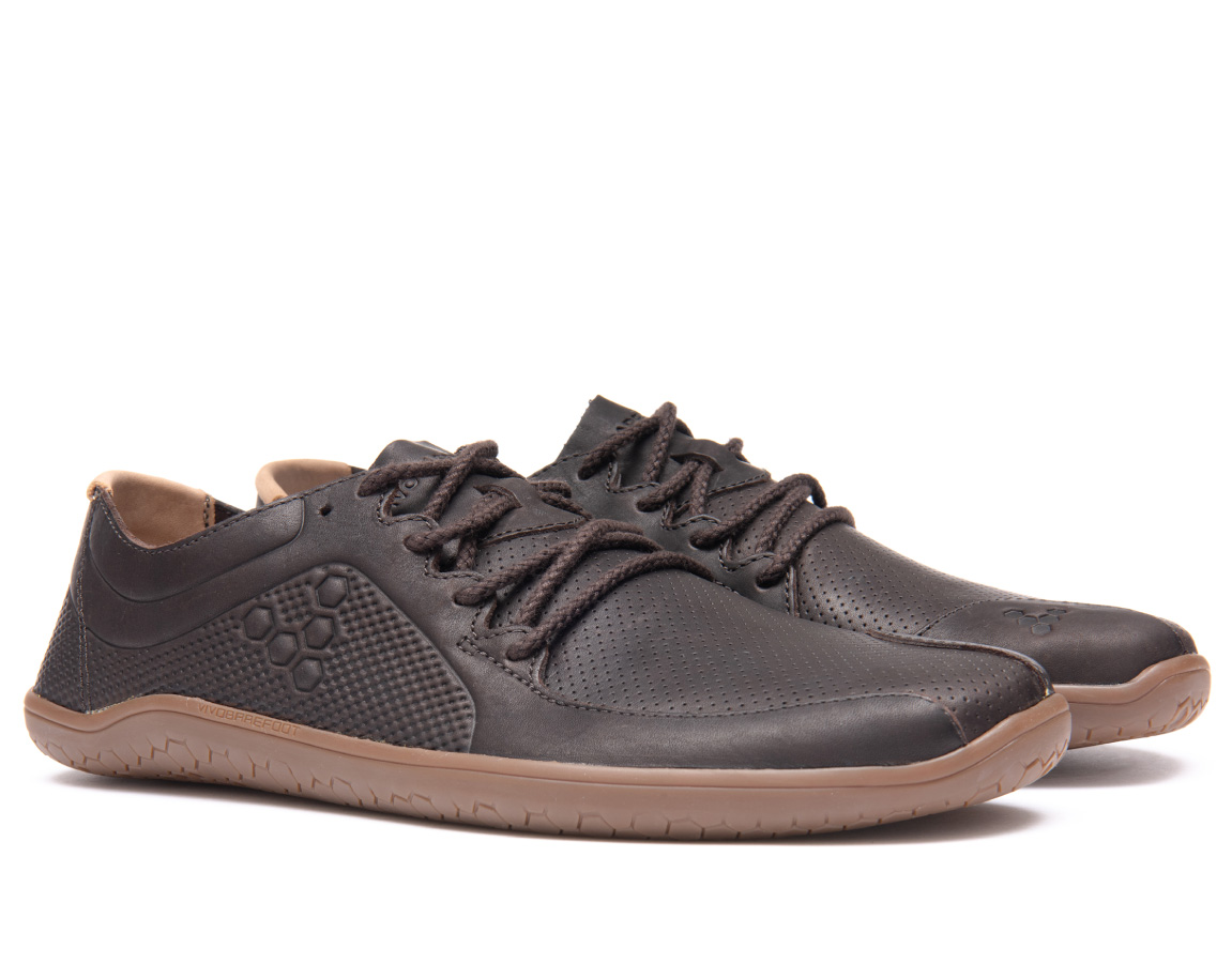 Vivobarefoot PRIMUS LUX LINED L Leather Dk Brown ()