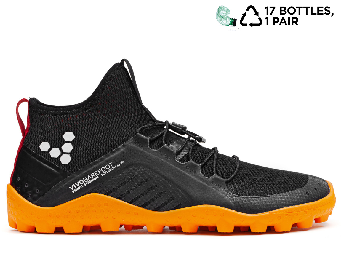 Vivobarefoot PRIMUS SWIMRUN HI SG L Mesh Black/Orange ()