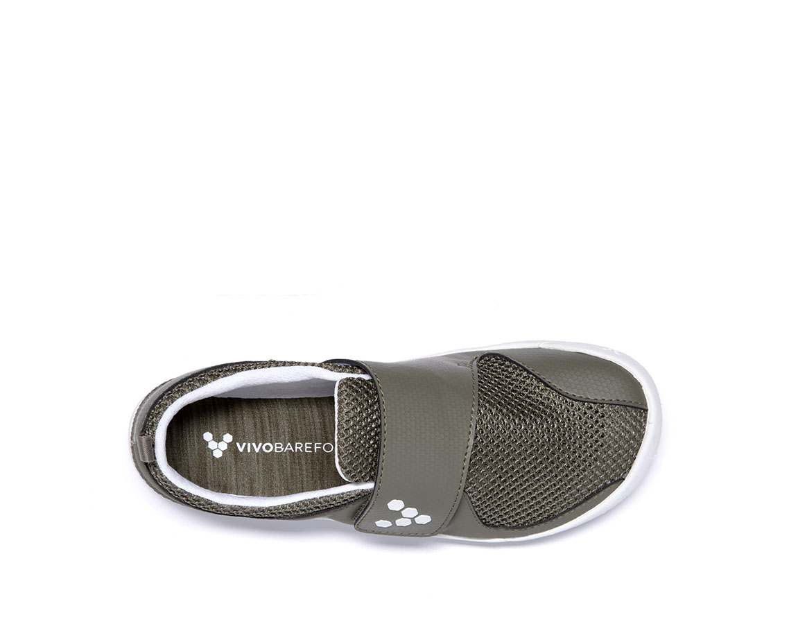Vivobarefoot PRIMUS KIDS K Olive/White ()
