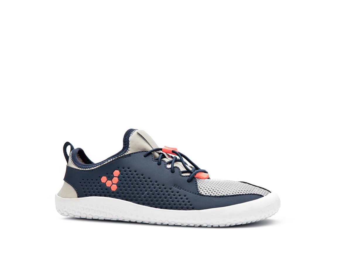 VIVOBAREFOOT PRIMUS JUNIOR Navy Grey Orange Textile ()