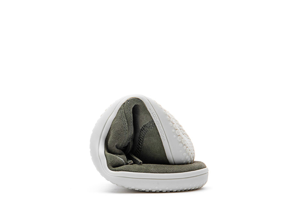 VIVOBAREFOOT RA SLIP ON L Olive Green Leather ()