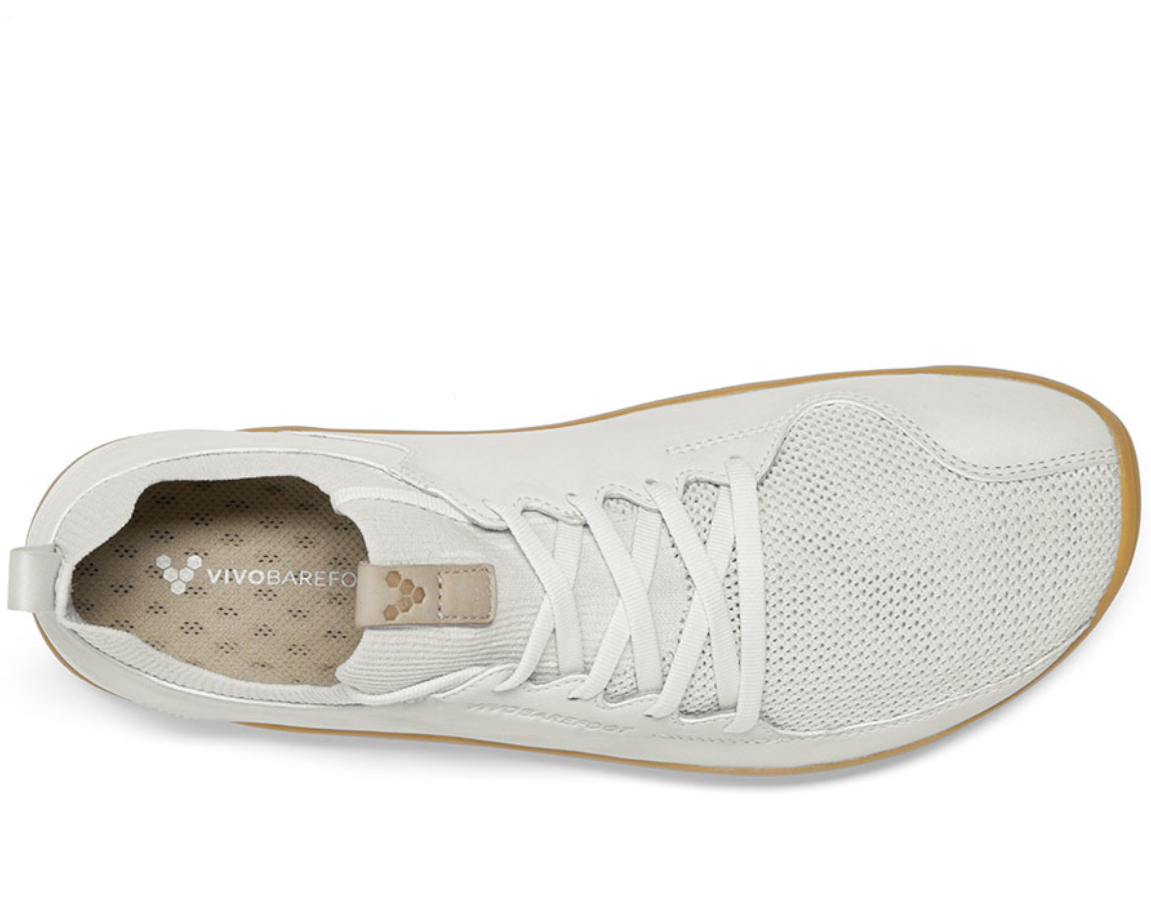 Vivobarefoot PRIMUS KNIT M Vap Grey Off White Leather ()