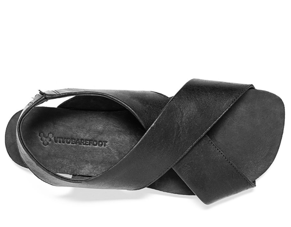 Vivobarefoot DUO SANDAL L Black Leather ()