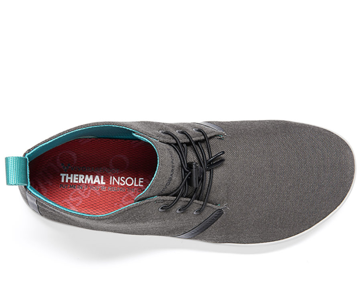 Vivobarefoot GOBI II M Dark Gull Grey Canvas ()