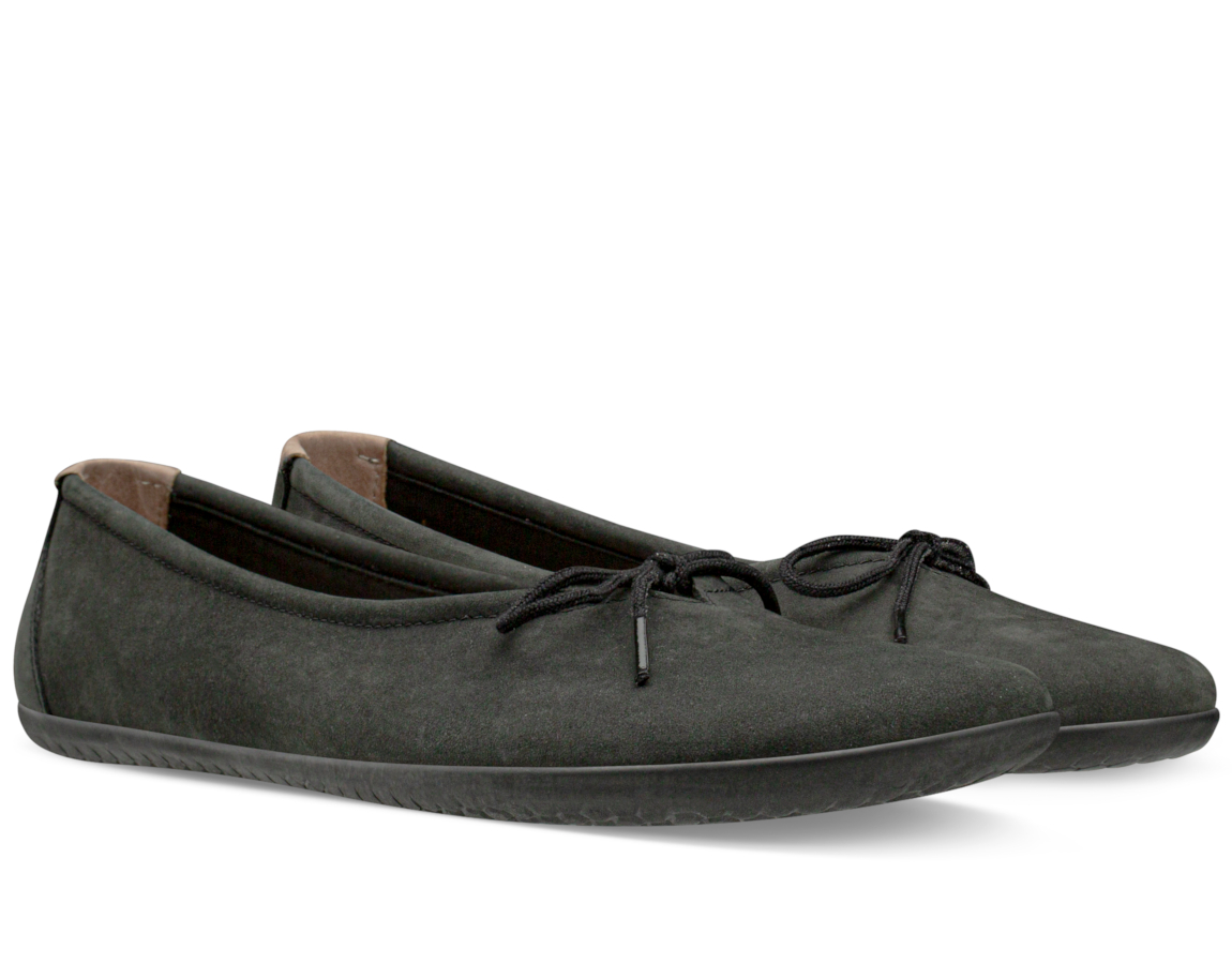 Vivobarefoot JING JING LACE L Black Leather ()