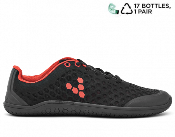 Vivobarefoot STEALTH 2 M BR Black/Red