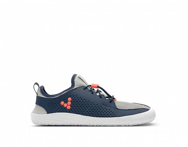 VIVOBAREFOOT PRIMUS JUNIOR Navy Grey Orange Textile