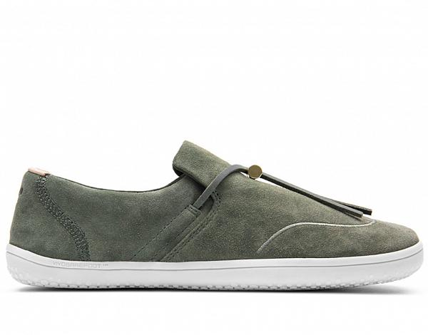 VIVOBAREFOOT RA SLIP ON L Olive Green Leather