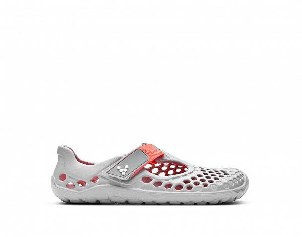 VIVOBAREFOOT ULTRA K Light Grey Neon Orange Bloom