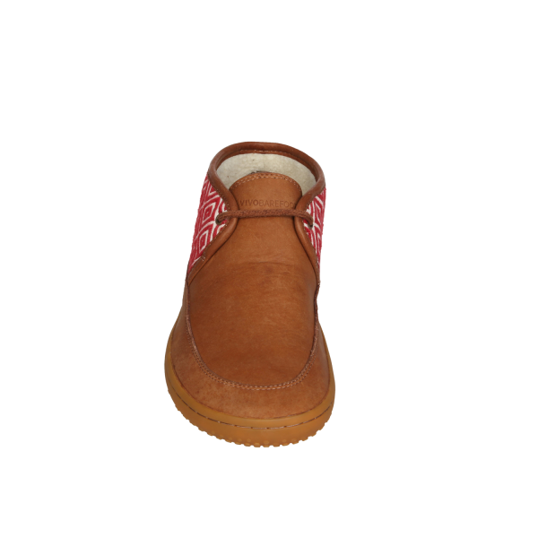 Vivobarefoot  GIA L Leather Chestnut/Hide (7)