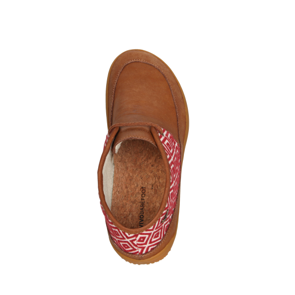 Vivobarefoot  GIA L Leather Chestnut/Hide (9)