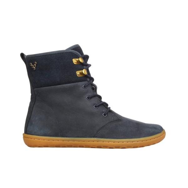 Vivobarefoot  GOBI HI TOP L Leather Navy/Hide (4)
