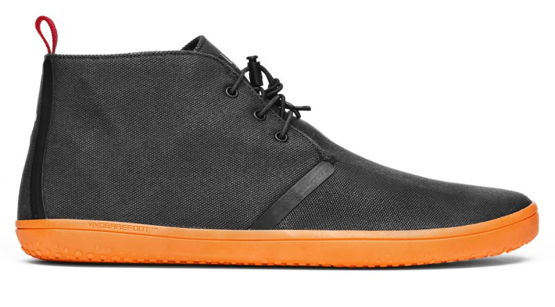 Vivobarefoot GOBI II M Canvas SWR Black/Orange (1)