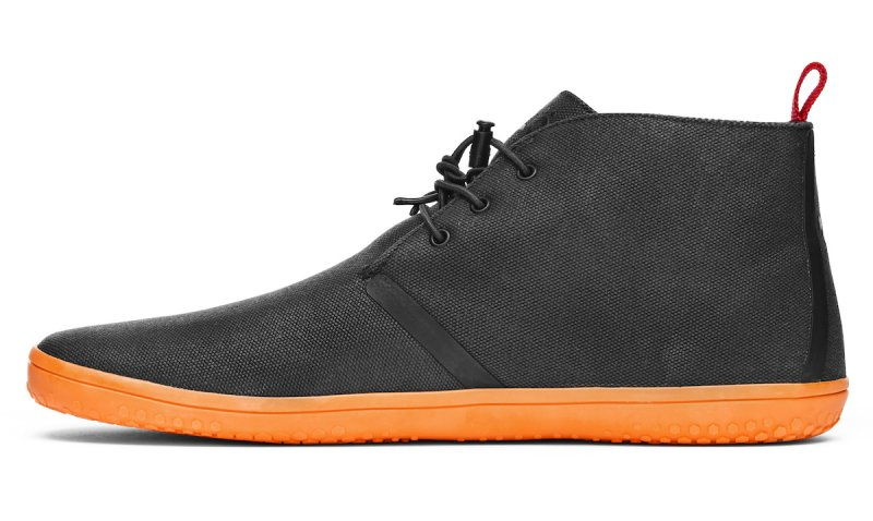 Vivobarefoot GOBI II M Canvas SWR Black/Orange (4)