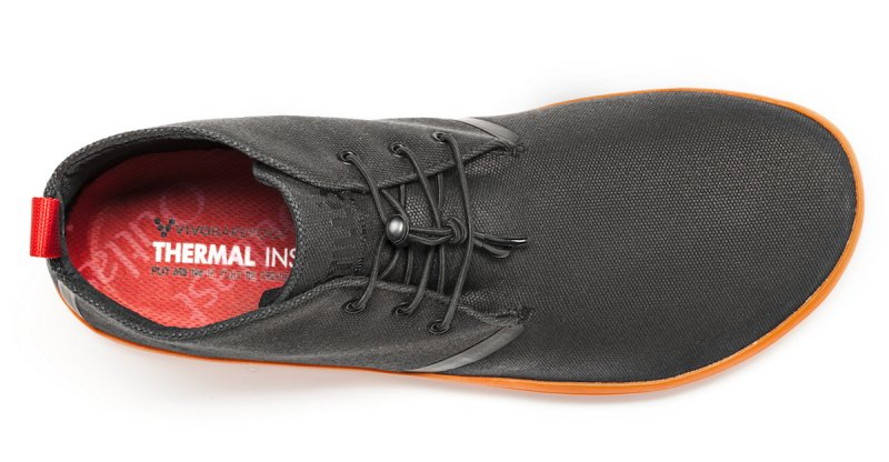 Vivobarefoot GOBI II M Canvas SWR Black/Orange (6)