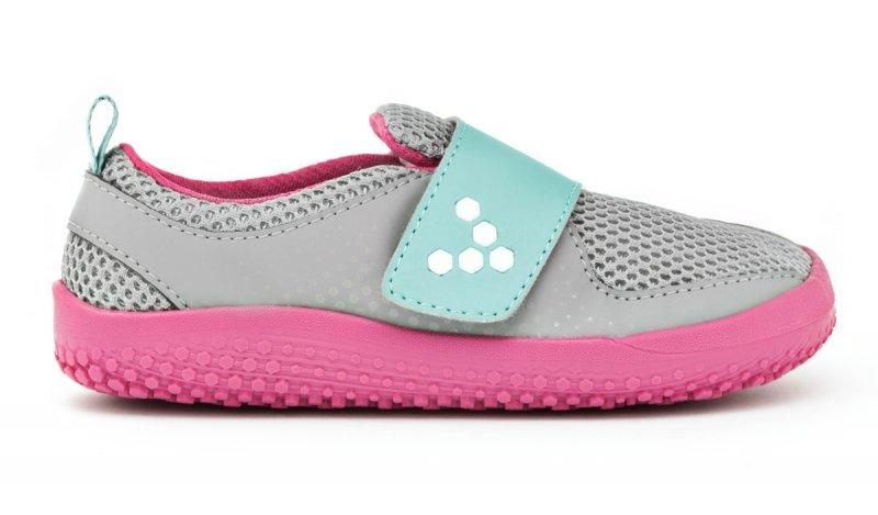 Vivobarefoot MINI PRIMUS K Grey/Pink (1)