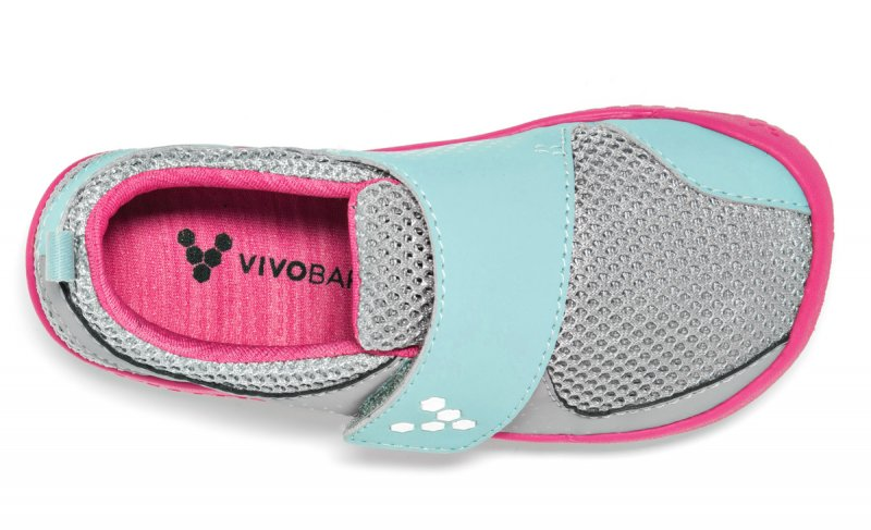 Vivobarefoot MINI PRIMUS K Grey/Pink (6)