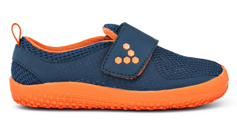 Vivobarefoot MINI PRIMUS K Navy/Orange (1)