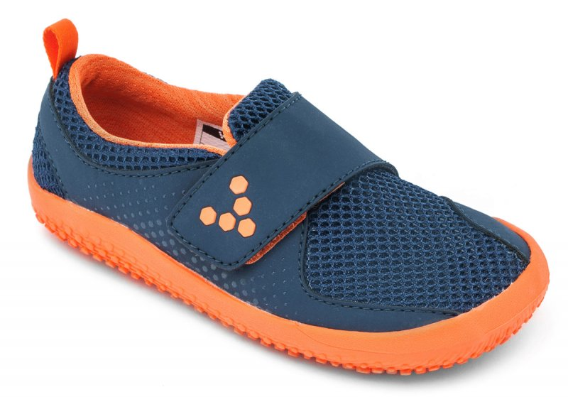 Vivobarefoot MINI PRIMUS K Navy/Orange (2)