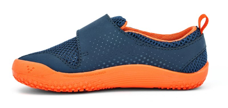 Vivobarefoot MINI PRIMUS K Navy/Orange (4)