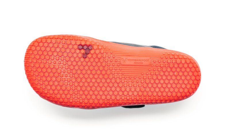 Vivobarefoot PRIMUS BOOTIE K Navy/Orange (3)