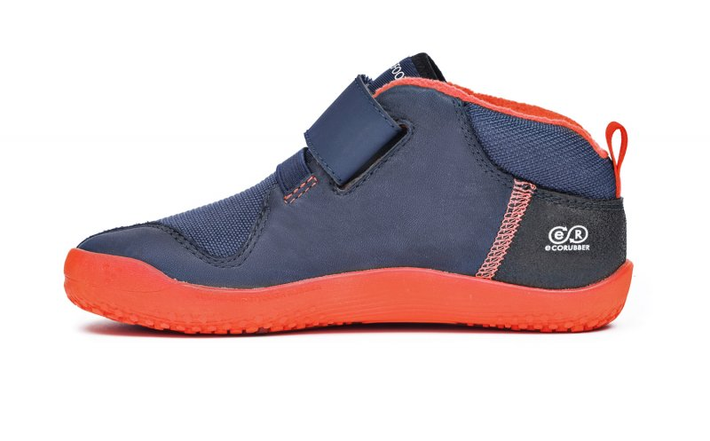 Vivobarefoot PRIMUS BOOTIE K Navy/Orange (4)