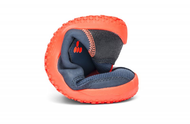 Vivobarefoot PRIMUS BOOTIE K Navy/Orange (7)