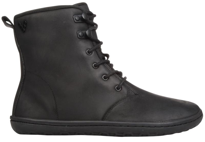 Vivobarefoot  GOBI HI TOP L Leather Black/Hide (1)