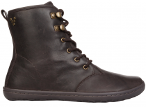 Vivobarefoot  GOBI HI TOP Leather Dk Brown/Hide