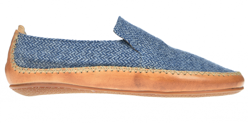 Vivobarefoot OPANKA SLIP M LCC Blue Wool (1)