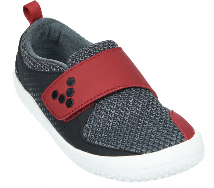 Vivobarefoot MINI PRIMUS K Mesh Black/Red (4)